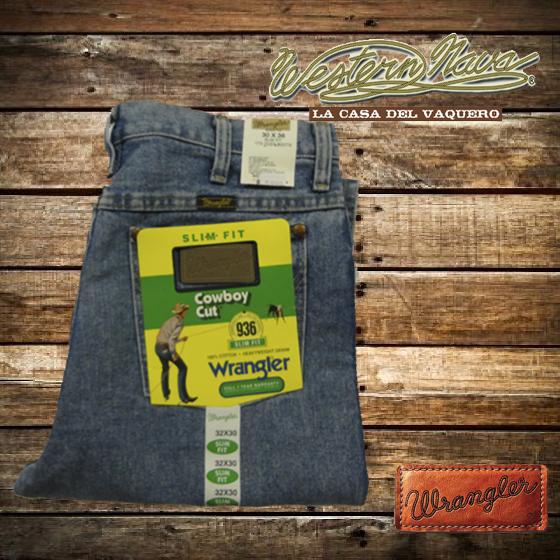 Pantalon Wrangler Slim Western Nava